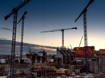 Photo of the Keeyask Generating Station construction site.