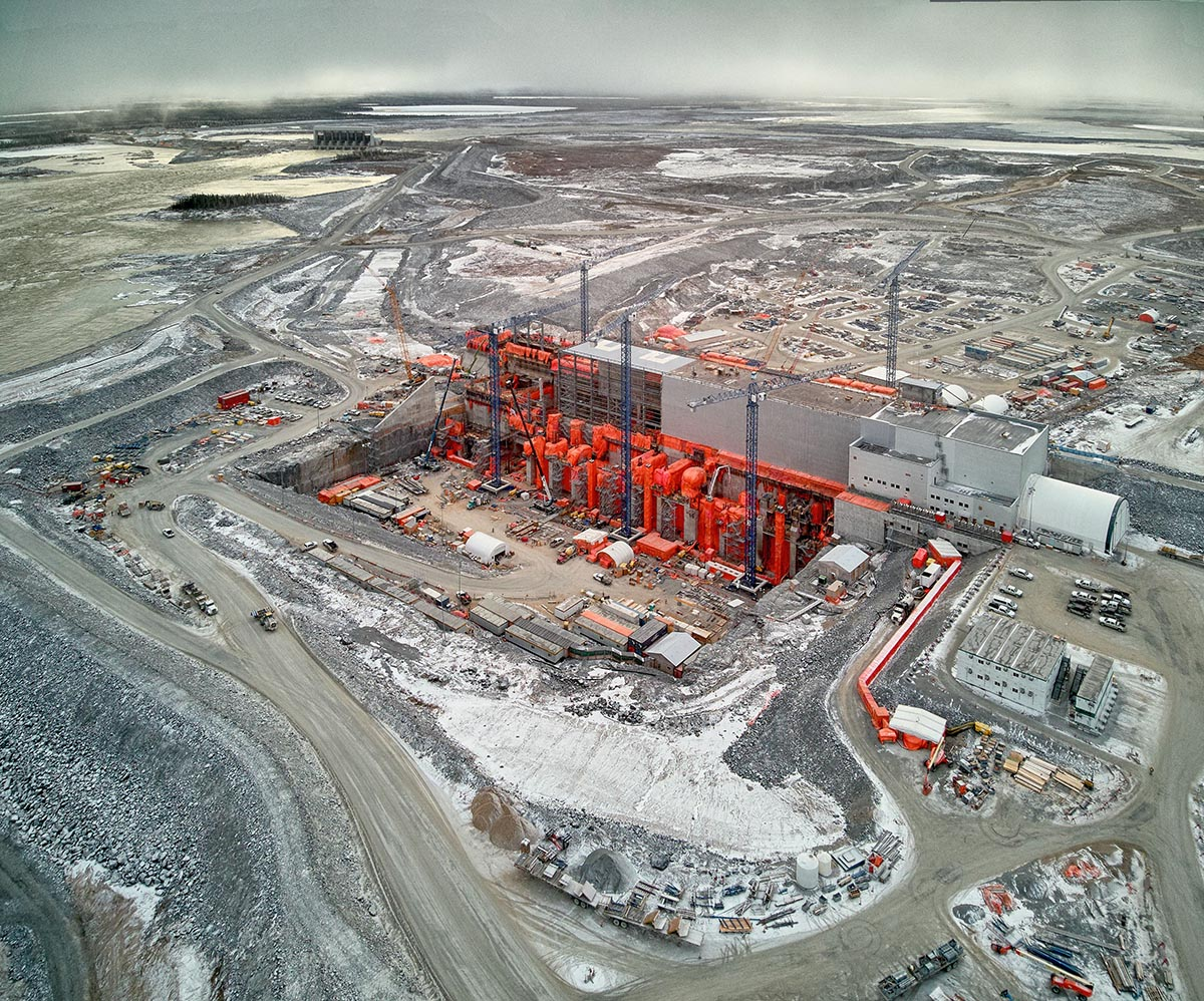 Photo of Keeyask Generating Station construction site.